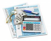 Relleno de 1040 US tax form