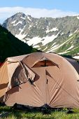 Tents in mountain