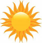 Midden van de zomer zon