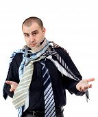 Man Choosing The Perfect Necktie