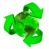 Green Earth eco symbol - America
