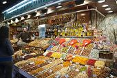 Market La Boqueria In Barcelona, Spain