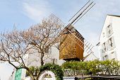 Historical Windmill - Moulin De La Galette, Montmartre,paris