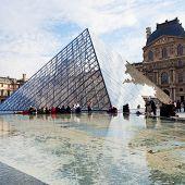 Glass Pyramid Of Louvre, Paris