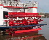 Paddlewheel On Back Of Ship