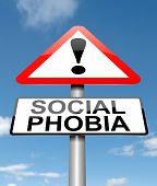 Concepto de fobia social.