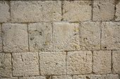 Ancient Medieval Stone Block Wall Background