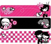 image of emo-boy  - Design for the emo styles using pink and black - JPG