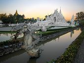 Wat Rong Khun, Popularly Known as the White Temple, in Chiang Rai, Thailand