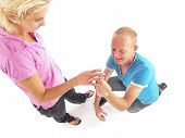 Man Kneeling Asks Girlfriend To Marry