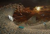 Постер, плакат: Storm In Desert