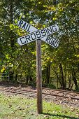 Large Railroad Crossing Sign