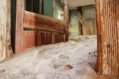 stock photo of quicksand  - An abandoned colony  - JPG