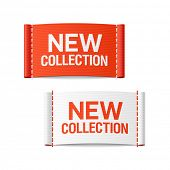 New collection clothing labels. Vector.