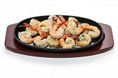 shrimp scampi in garlic butter, american food