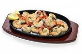 stock photo of antipasto  - shrimp scampi in garlic butter - JPG