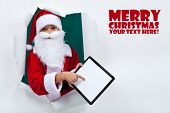 Keeping in touch with santa was never so easy - technology concept, copy space