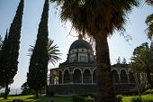 picture of beatitudes  - Chapel on the Mount of Beatitudes Israel - JPG