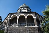 image of beatitudes  - Chapel on the Mount of Beatitudes Israel - JPG