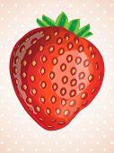 vector delicious strawberry