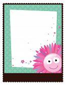 8.5x11 floral Flyer/Poster translucent vektor