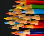 Macro Close Up Wood Multiple Color Art Supply Pencils