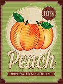 vector vintage styled peach poster