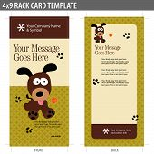 4x9 Two Sided Rack Card Vector