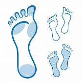 Feet illustration made with curved lines
