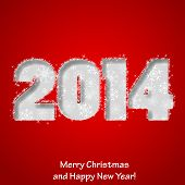Modern Merry Christmas and Happy New Year greeting card. Vector eps10 illustration