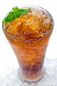 Soda With Ice In A Glass