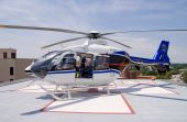 stock photo of medevac  - A life flight helicopter ready for takeoff - JPG