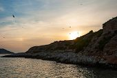 stock photo of assis  - Sunset in Cananques natural park Marseille - JPG