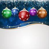 Blue Holiday Xmas Greeting Card