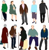 Set Of Old People