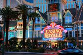 Las Vegas, Nevada - May 06, 2009: Entrance To Casino Royale  Hotel At Central Part Of Strip In Las V