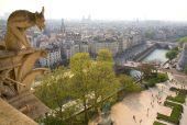 Gargoyle On The Top Of Notre-dame De Paris