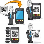 Businessman And Qr Code