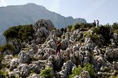 BERCHTESGADEN, GERMANY CIRCA AUGUST 2013 - Rocks next to Hitler's Eagle's Nest