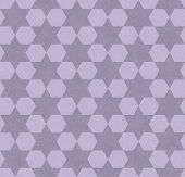 Purple Hexagon Patterned Textured Fabric Background