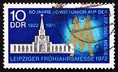 Postage Stamp Gdr 1972 Russian Pavilion And Fair Emblem