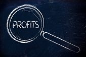 Focusing On Profits, Magnifying Glass Design