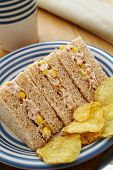Tuna And Sweetcorn Sandwich Snack