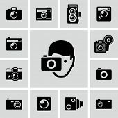 stock photo of objectives  - Camera icons - JPG