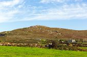 Hill Zennor Cornwall England UK near St Ives in the Cornish countryside
