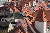 Cesky Krumlov - August 21, 2012: The City Roofs. The Castle And City Of Cesky Krumlov Is Saved By Un