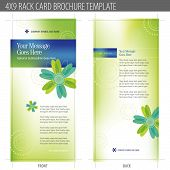 Rack Card Brochure Template Vector