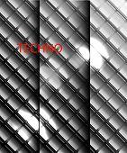 Vector metal mosaics background