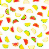 fruit jellies, oranges, lemons, limes