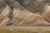 Volcanic Landscape With Rhyolite Formations. Iceland. South Area. Fjallabak.